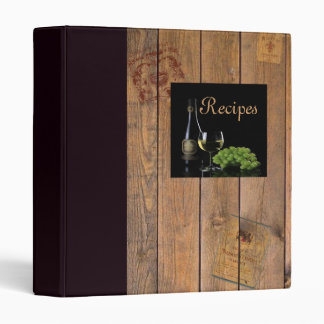 Wine and Wood Recipe Binder