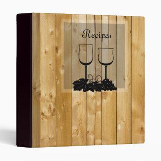 Wine and Wood Recipe Binder