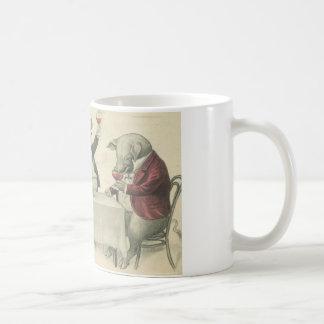 wine ang pigs and bowl coffee mug