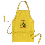 WINE ANYONE YELLOW CANVAS COOKING APRON