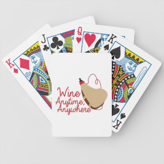 Wine Anytime Bicycle Playing Cards