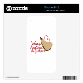 Wine Anytime Decals For iPhone 4