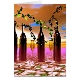Wine Art Card
