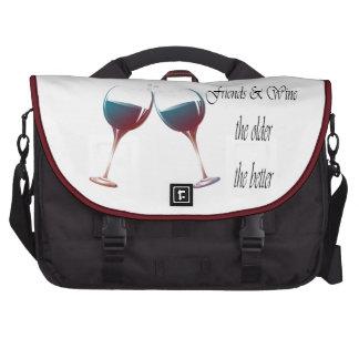 Wine Art Designs Messenger Bags Laptop Bag