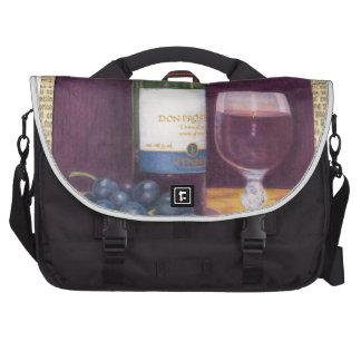 Wine Art Designs Messenger Bags Laptop Computer Bag