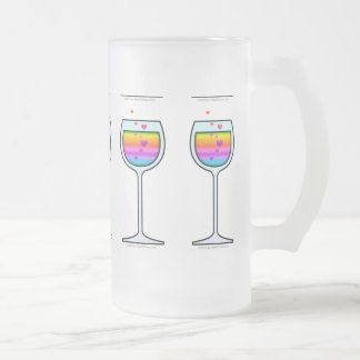WINE ART FROSTED STEIN