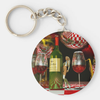 Wine Art Key Chains