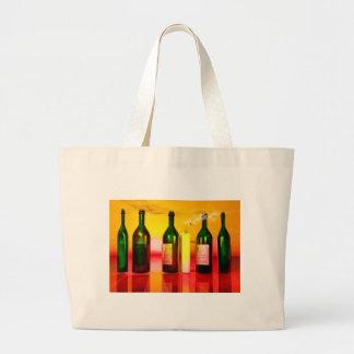 Wine art large tote bag