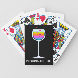 WINE ART PERSONALIZABLE PLAYING CARDS