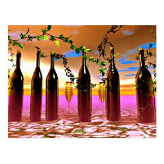 Wine Art Postcard