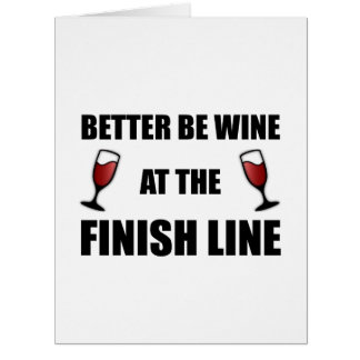 Wine At Finish Line Large Greeting Card