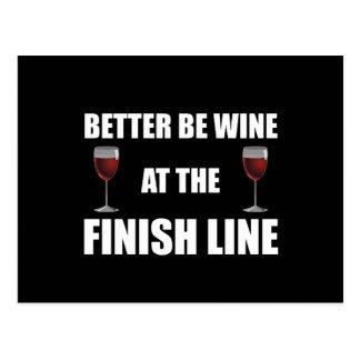 Wine At Finish Line Postcard