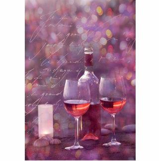 Wine at the beach cutout