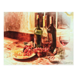 Wine At The Table by Shawna Mac Postcard