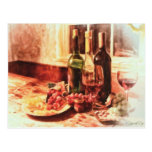 Wine At The Table by Shawna Mac Postcards