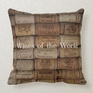 Wine Bar or Shop Cork Collection Throw Pillow