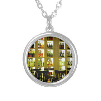 Wine Bar Silver Plated Necklace