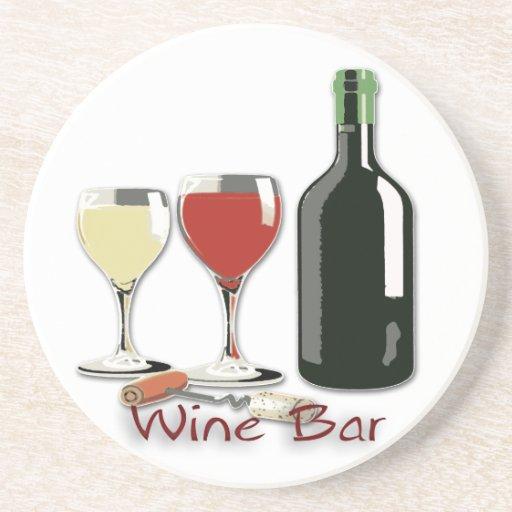 Wine bar wine sandstone drink coaster zazzle - Sandstone drink coasters ...