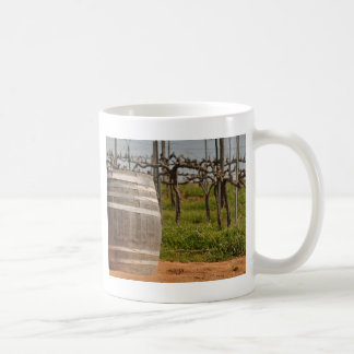 Wine Barrel and Vineyard in the Spring Coffee Mug