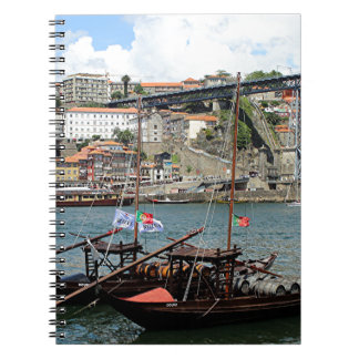 Wine barrel boats, Porto, Portugal Notebook