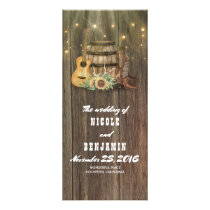 Wine Barrel Cowboy Boots Country Wedding Programs