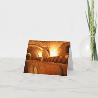 Wine Barrel Greeting Card card