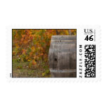 Wine Barrel in Autumn Fall Postage Stamp