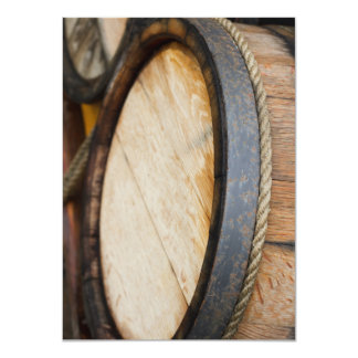 Wine Barrel Lid Closeup Card