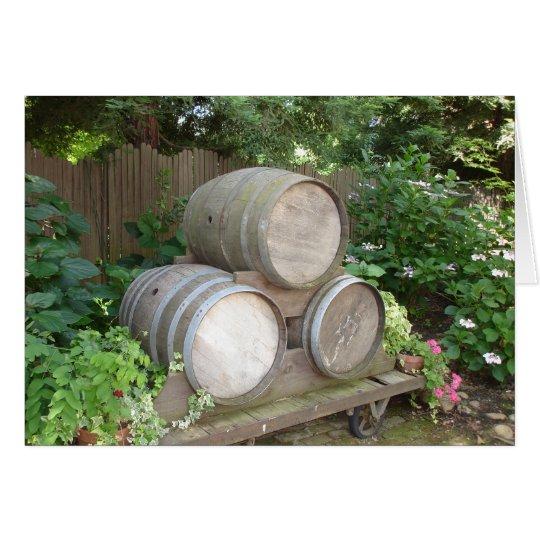 Wine Barrel Notecards Card