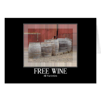 Wine Barrel Party Invitation Stationery Note Card