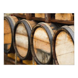 Wine Barrel Row Custom Invitation