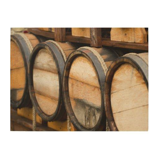 Wood Barrel Wall Decor : Wine barrel row wood wall art zazzle