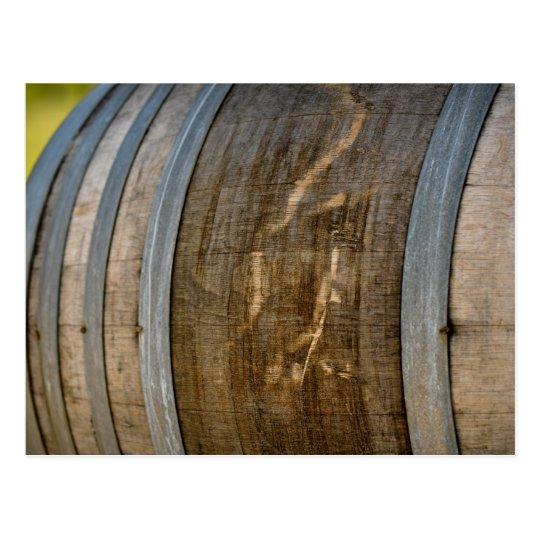 Wine Barrel used to Store Vintage Wine Postcard