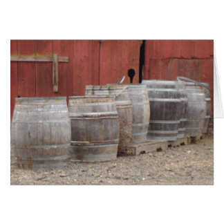Wine Barrels Stationery Note Card