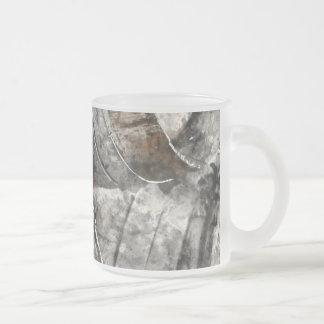 Wine Barrels Frosted Glass Coffee Mug