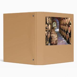 Wine Barrels in the Wine Cellar 3 Ring Binder