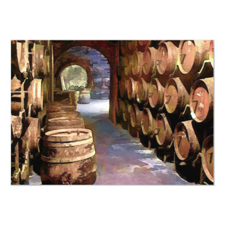 Wine Barrels in the Wine Cellar Card
