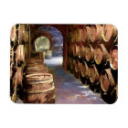 Wine Barrels in the Wine Cellar Magnet