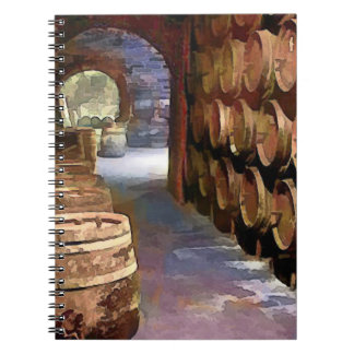 Wine Barrels in the Wine Cellar Notebook