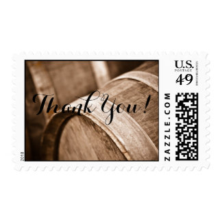 Wine Barrels Photograph Thank You Stamp