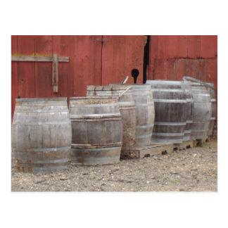 Wine Barrels Post Cards