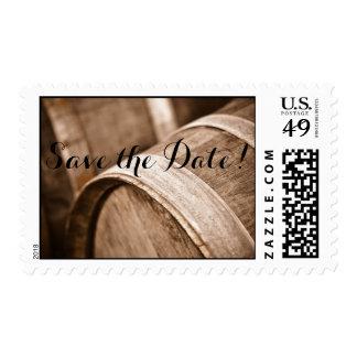 Wine Barrels Save the Date Wedding Postage