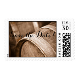 Wine Barrels Save the Date Wedding Postage