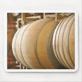 Wine Barrels used to Store Vintage Wine Mouse Pad