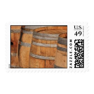 Wine Barrels used to Store Vintage Wine Postage