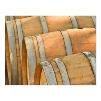 Wine Barrels used to Store Vintage Wine Postcard