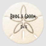 Wine Beer bottle Beach Sand Dollar Wedding Labels Sticker