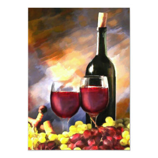 """Wine Before and After 5"""" X 7"""" Invitation Card"""