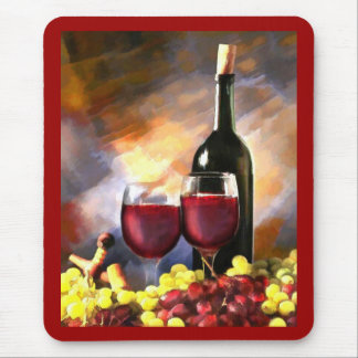 Wine Before and After Mouse Pad