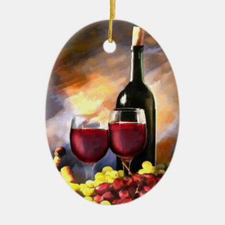 Wine Before and After Christmas Tree Ornaments